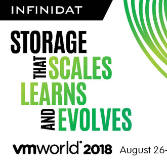 Storage that Scales, Learns and Evolves – Infinidat at VMworld 2018